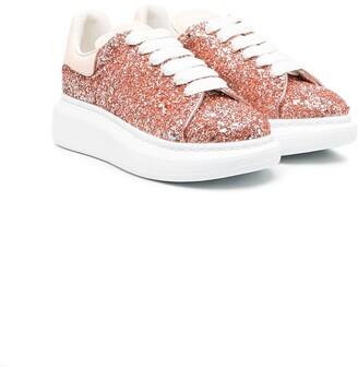 ALEXANDER MCQUEEN KIDS Glitter Lace-Up Sneakers
