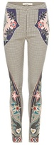 Mary Katrantzou Labyrinth Embroidered Skinny Trousers