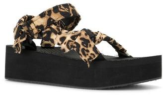 Arizona Love Trekky Platform Satin Ankle Sandal