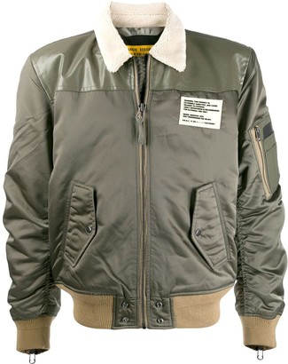 Diesel Zipped Sleeve Bomber Jacket