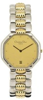 Christian Dior 45.204 Stainless Steel & Gold Plated 32mm Mens Watch