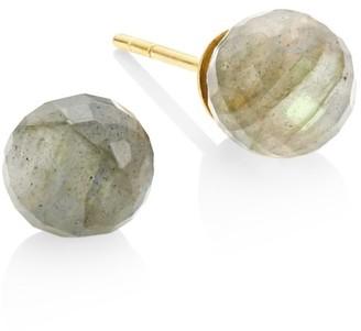 Dean Davidson Manhattan 22K Yellow Goldplated & Labradorite Stud Earrings