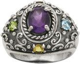 FINE JEWELRY Multi-Gemstone Oxidized Sterling Silver Ring