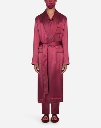 Dolce & Gabbana Silk Robe With Matching Face Mask