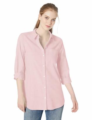 Daily Ritual Amazon Brand Women's Broken-in Cotton Button-Front Tunic Shirt