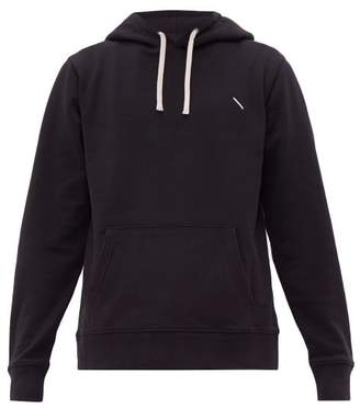 Saturdays NYC Ditch Embroidered Cotton Hooded Sweatshirt - Mens - Black