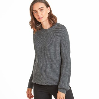 Tog 24 TOG24 Eloise Womens Cable Knit Jumper Chunky Cosy Knitted Wool Mix Ribbed Crew Neck Silky Streamlined Fit Soft Warm Woollen Sweater Relaxed Fit Set In Sleeves Attractive Knitwear Classic Crewneck