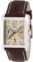 Lotus Men's Quartz Watch with Dial Analogue Display and Brown Leather Strap 15387/3