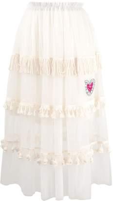 5 PROGRESS fringed tulle skirt