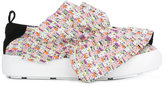 MSGM ruffle trim sneakers - women - Leather/Polyester/rubber - 35