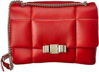 Salvatore Ferragamo Studio Quilted Leather Shoulder Bag