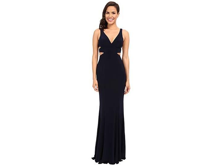 Faviana Jersey V-Neck Side Out 7541 Women's Dress