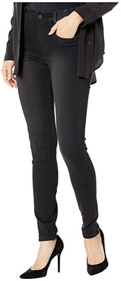 Liverpool Gia Glider/Revolutionary New Skinny Pull-On in Stretch Black Denim in Night Jet (Night Jet) Women's Jeans