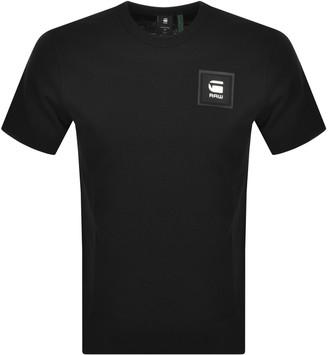 G Star Raw Badge Logo T Shirt Black