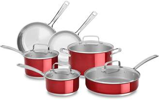 KitchenAid 10-Piece Stainless Steel Cookware Set