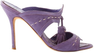Laurence Dacade Purple Leather Sandals