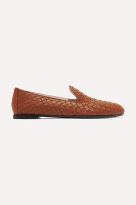 Bottega Veneta Intrecciato Leather Loafers - Tan