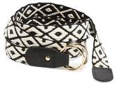Old Navy Braided Black & White Belt for Women