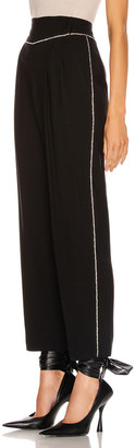 MSGM Crystal Trimmed Trouser in Black | FWRD