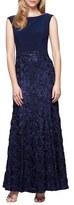 Alex Evenings Petite Women's Embellished Soutache Ballgown