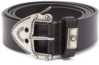 Isabel Marant Newi Western-buckle Leather Belt - Black