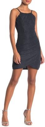 Bailey Blue Sparkle Knit Crepe Bodyon Dress