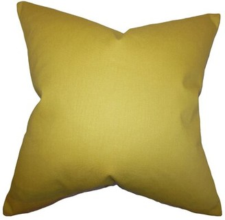The Pillow Collection Kalindi Solid Bedding Sham The Pillow Collection Size: Standard, Color: Chartreuse