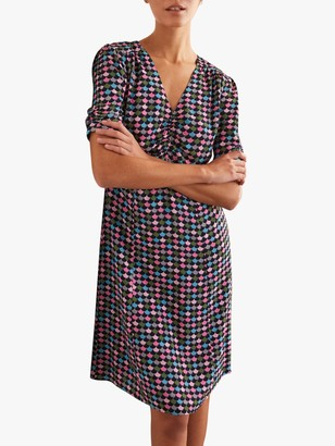 Boden Jemima Puff Sleeve Dress, French Navy