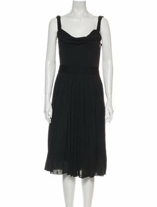 Dolce & Gabbana Cowl Neck Knee-Length Dress Black