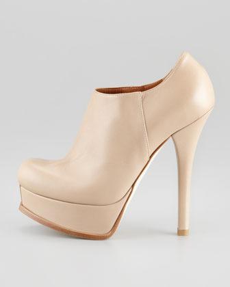 Fendi Fendista Leather Platform Ankle Boot