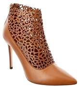 Jimmy Choo Maurice 100 Laser Perforated Shiny Leather Bootie.