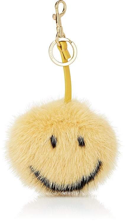 Anya Hindmarch Women's Smiley Mink Fur Bag Charm