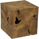 Root Cube Teak Wood Side Table