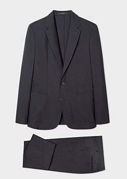 Men's Navy Washable Wool Suit