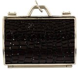 Judith Leiber Crocodile Print Purse Pillbox