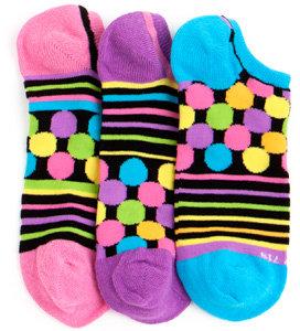 LittleMissMatched Black Zany Geo Liner Socks
