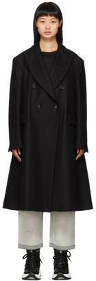 MM6 MAISON MARGIELA Black Wool Double-Breasted Coat