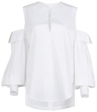 Silvia Tcherassi Corato Cold-Shoulder Poplin Shirt