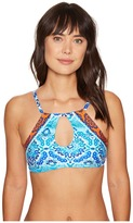 LaBlanca La Blanca - All in the Mix Hi-Neck Bra Top Women's Swimwear