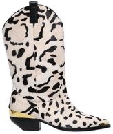 Fausto Puglisi 30mm Leopard Print Ponyskin Cowboy Boots