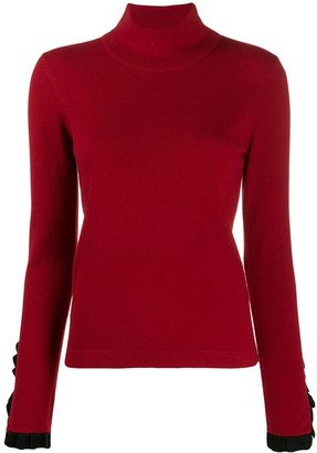 Temperley London Pleated Cuff Turtleneck Sweater