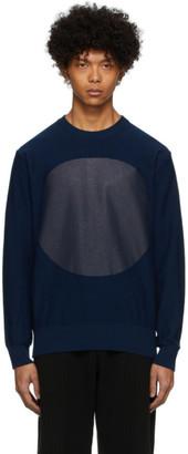Blue Blue Japan Navy Big Circle Sweater