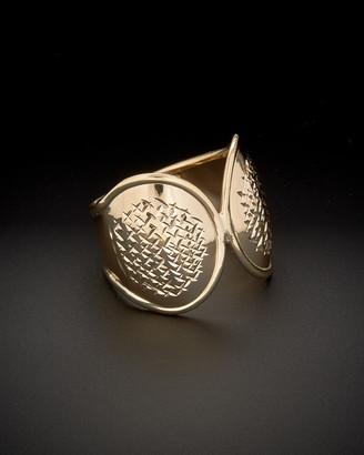 Italian Gold 14K Diamond Cut Fancy Spoon Ring