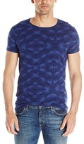 Scotch & Soda Men's Short Sleeve Tee In Jacquard Knitted Patterns