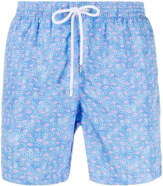 Barba Summer Print Swim Shorts