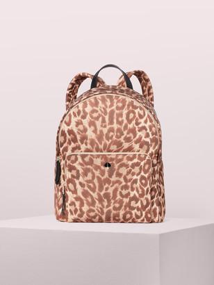 Kate Spade Taylor Leopard Large Backpack