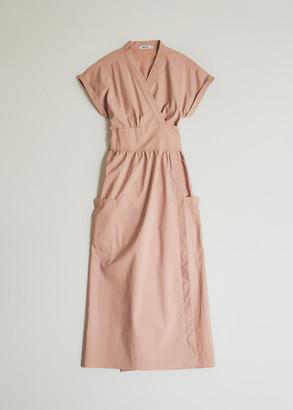 NEED Women's Garcia Wrap Dress in Dusty Pink, Size Small | Spandex