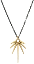 Marion Cage Fan Points Necklace - Yellow Gold