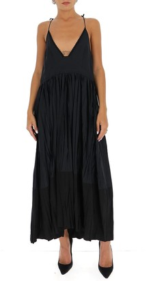 Jil Sander Deep V-Neck Midi Dress