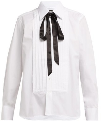 Emma Willis Evening Pleated Cotton-poplin Shirt - White